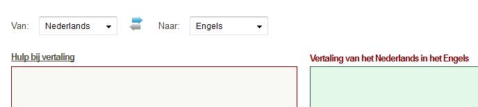 vertalen naar engels
